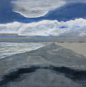 Golven kunnen je overspoelen.. je nietig maken ….. je breken zelfs.. of ben jij het die de golf breekt en lukt het je de horizon te blijven zien en daarmee de silver lining die toch achter iedere donkere wolk zit?